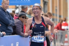 Evelyn at ITU World Triathalon in Rotterdam, Holland