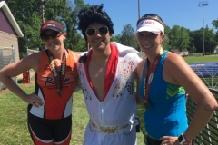 Tara and Courtney with Elvis impersonator
