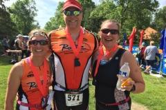 Evelyn, Richard, and Kristine at Elkhart Lake Triathalon